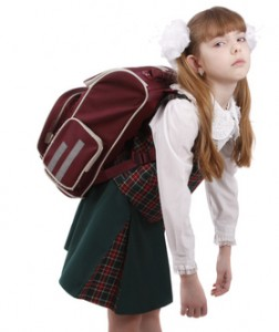 childrens backpack back pain