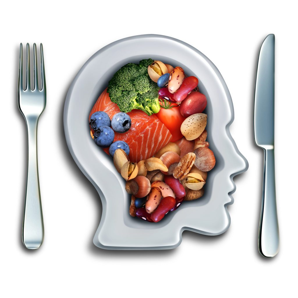 Brain food recipes to boost focus memory cool springs brain food to boost brainpower nutrition concept as a group of nutritious nuts fish vegetables and forumfinder Image collections